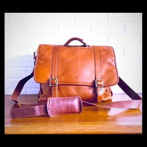 Frye Leather Computer Bag Tote Briefcase